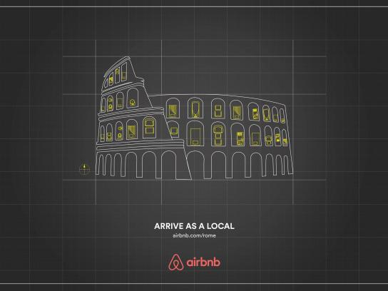 Airbnb Print Ad -  Rome