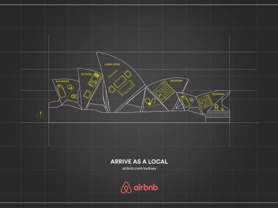 Airbnb Print Ad -  Sydney