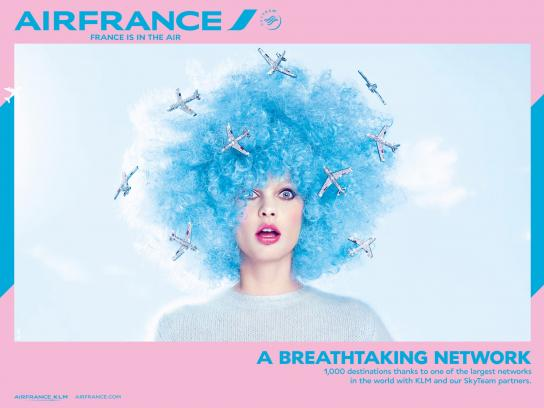 Air France Outdoor Ad -  Hair