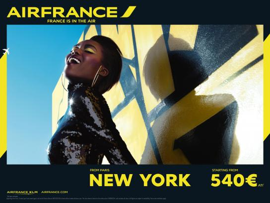 Air France Print Ad -  New York