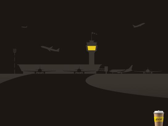 McCafé Print Ad - Airport