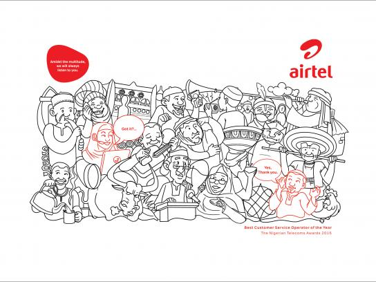 Airtel Print Ad - Northerners