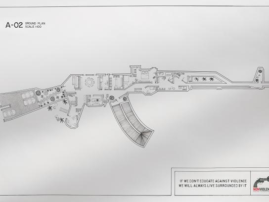 NonViolence Print Ad -  AK-47