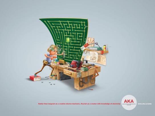 AKA Association of Communication Agencies Print Ad -  Electro-mechanic