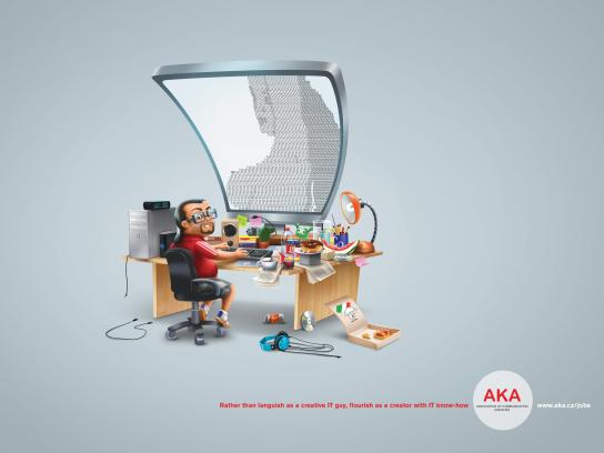 AKA Association of Communication Agencies Print Ad -  IT guy