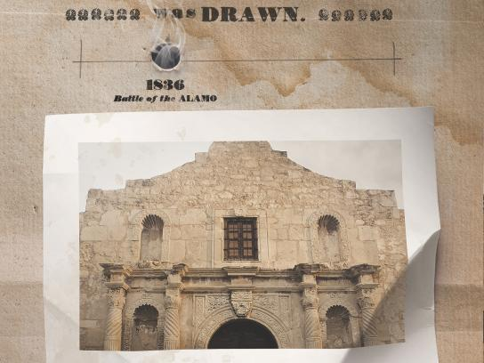 San Antonio Tourism Print Ad -  The Alamo