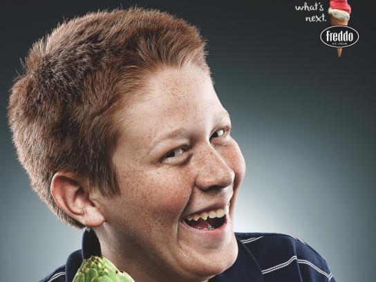 Freddo Print Ad - Kids and Vegetables, 1