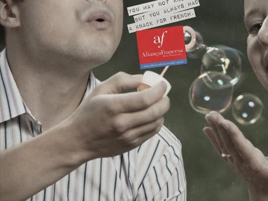 Alliance Française Print Ad -  Bubbles