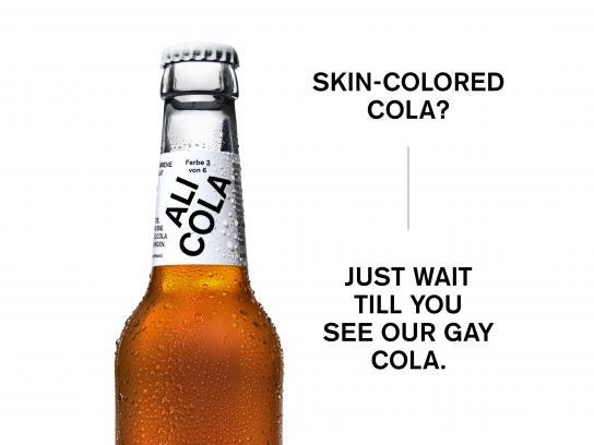 Ali Cola Design Ad - The cola in skin colors, 8