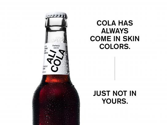 Ali Cola Design Ad - The cola in skin colors