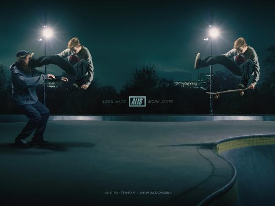 Alis Print Ad - Less Hate – More Skate, 2