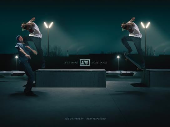 Alis Print Ad - Less Hate – More Skate, 3
