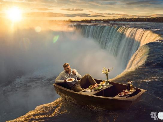 Alka Seltzer Print Ad - Waterfall