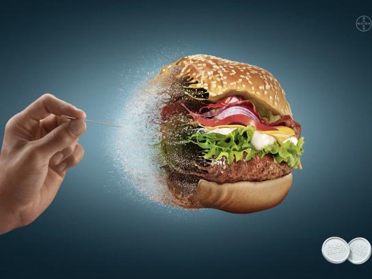Alka Seltzer Print Ad -  Hamburger
