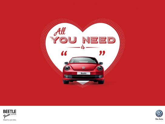 Volkswagen Print Ad -  All you need is