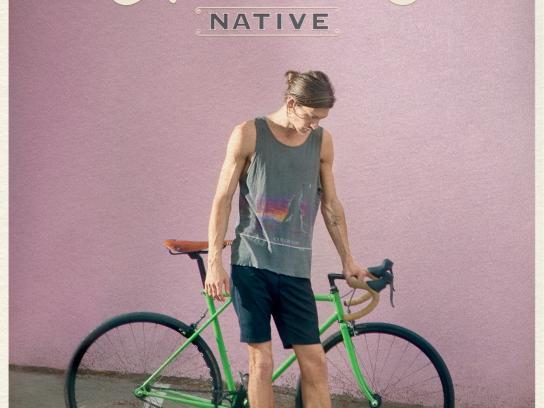 Allens Boots Print Ad -  Bike