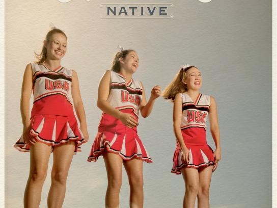 Allens Boots Print Ad -  Cheerleader