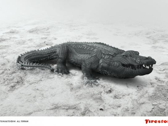 Firestone Print Ad -  Alligator