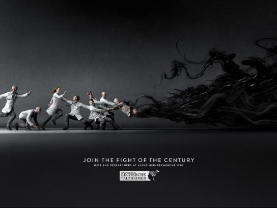 Alzheimer's Association Print Ad -  The fight of the century