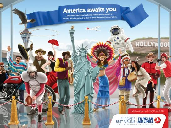 Turkish Airlines Print Ad -  America
