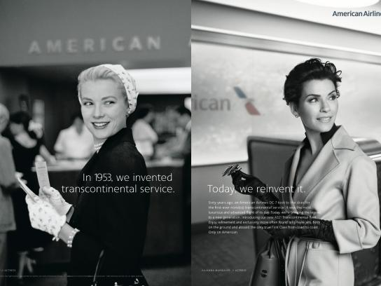 American Airlines Print Ad -  The Legend Is Back - Grace