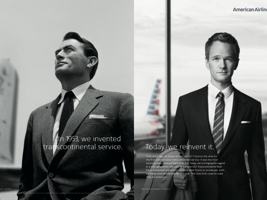 American Airlines Print Ad -  The Legend Is Back - Gregory