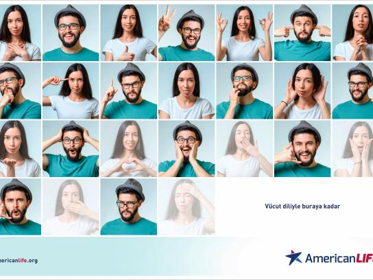 American Life Print Ad - Body Language