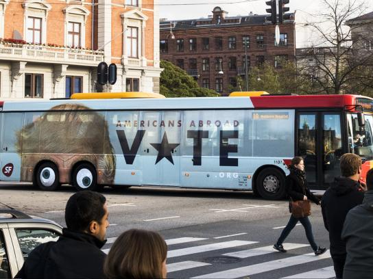 SF Outdoor Ad - Americans abroad, vote!