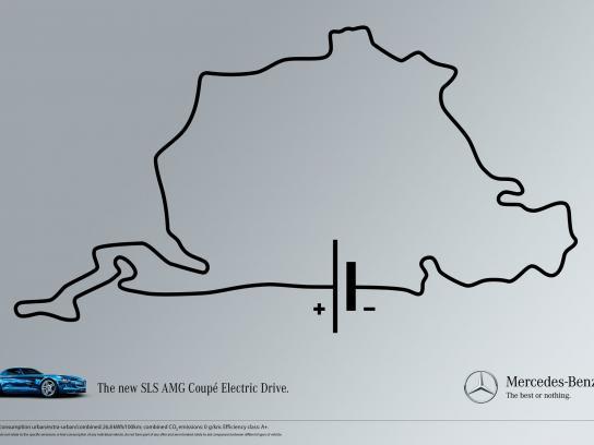 Mercedes Print Ad -  Nuerburgring