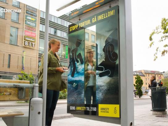 Amnesty International Outdoor Ad -  Stop torture, 4