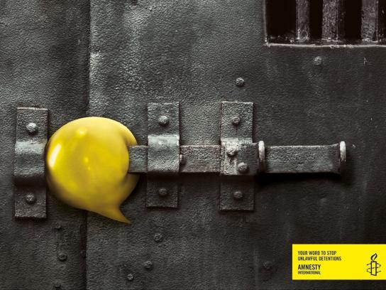 Amnesty International Print Ad -  Your word, Lock