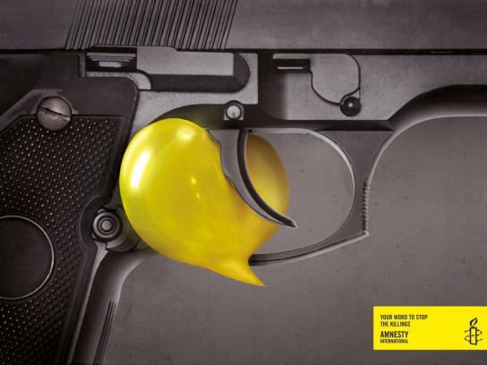 Amnesty International Print Ad -  Your word, Gun