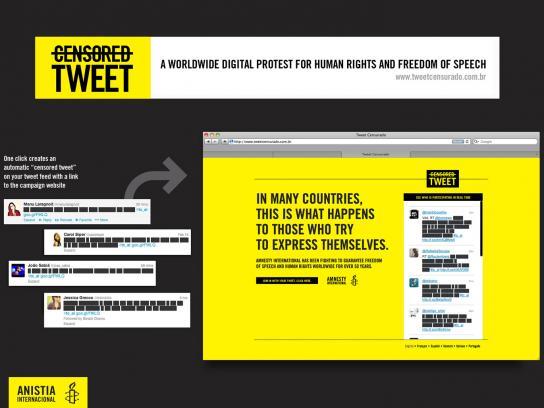Amnesty International Digital Ad -  Censored tweets