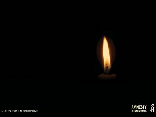 Amnesty International Print Ad -  Candle, 2