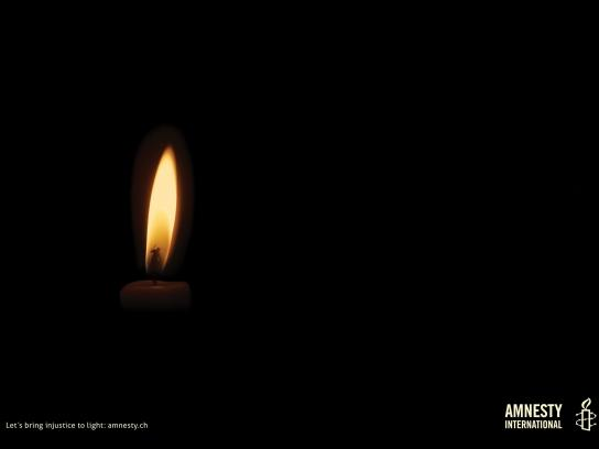 Amnesty International Print Ad -  Candle, 3