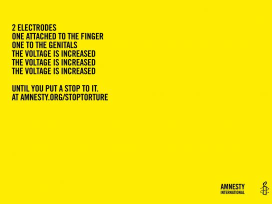 Amnesty International Print Ad -  Poems of horror, 1