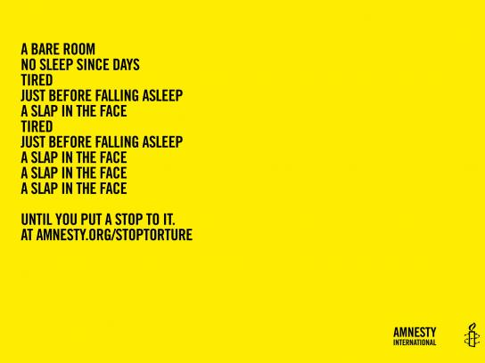 Amnesty International Print Ad -  Poems of horror, 2