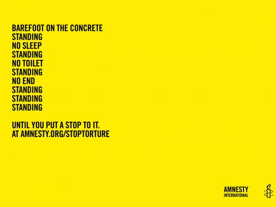 Amnesty International Print Ad -  Poems of horror, 3