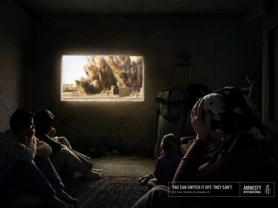 Amnesty International Print Ad - Explosion