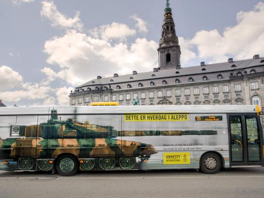 Amnesty International Outdoor Ad - Bus Tank