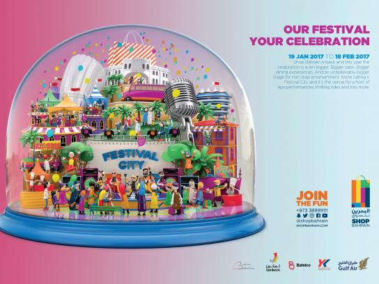 Bahrain Shopping Festival Print Ad - Celebration
