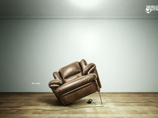 World Gym Print Ad -  Couch