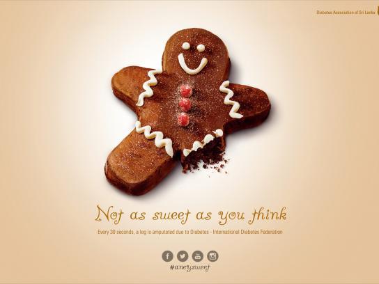 Diabetes Association of Sri Lanka Print Ad -  Not as sweet, 1