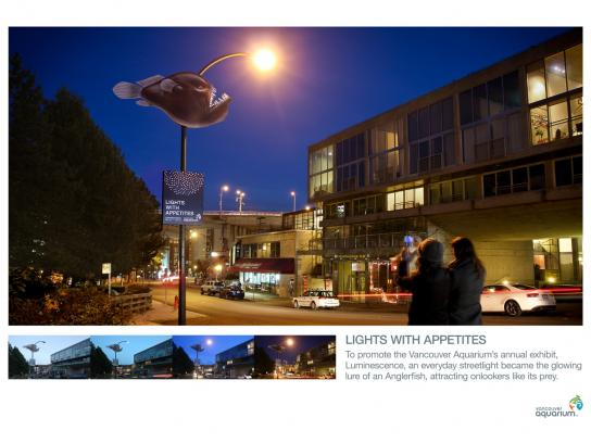 Vancouver Aquarium Ambient Ad -  Lights with Appetites