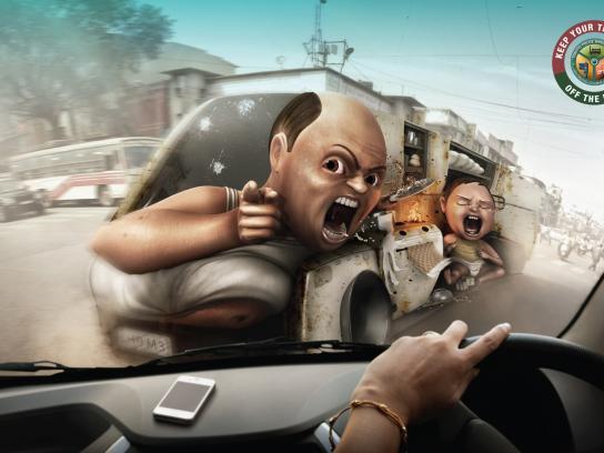 Bangalore traffic police Print Ad -  Husband