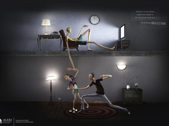 Alerj Print Ad -  Domestic Child Abuse, 1
