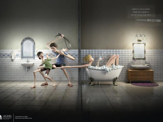 Alerj Print Ad -  Domestic Child Abuse, 2