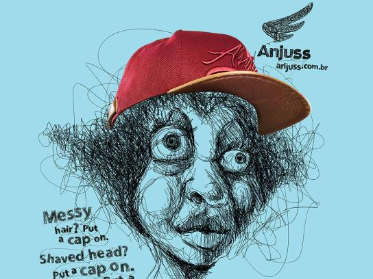 Anjuss Print Ad - Big Heads, 2