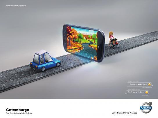Volvo Print Ad -  Illusion, 1