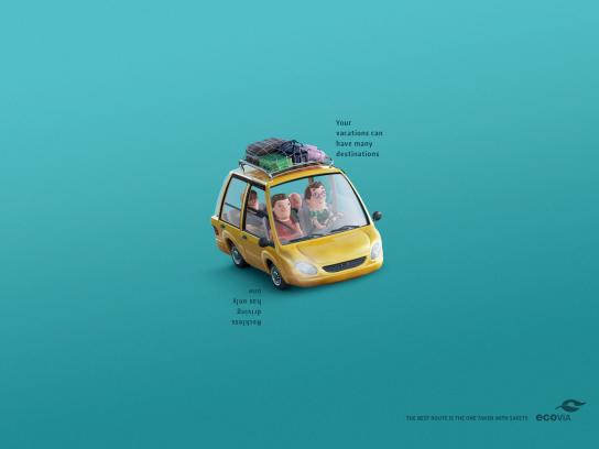 Ecovia Print Ad -  The best route is the one taken with safety, 1